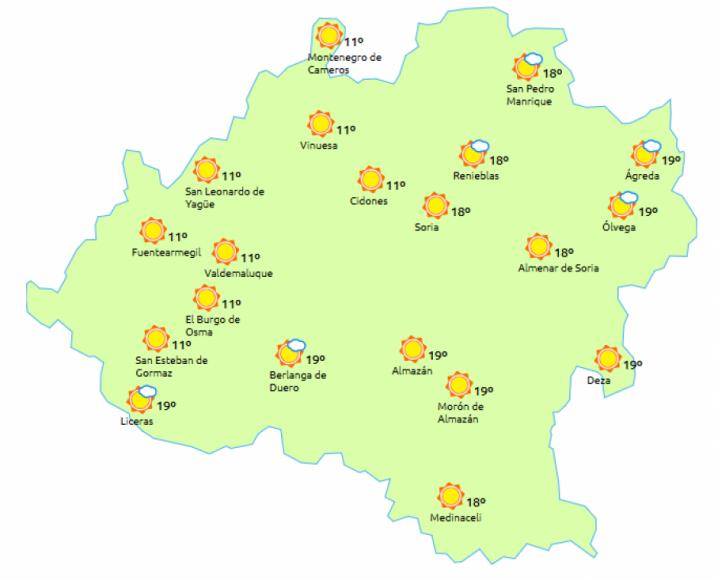 Suben las temperaturas en la provincia. / eltiempo.es