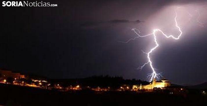 Una tormenta este verano en la provincia./SR