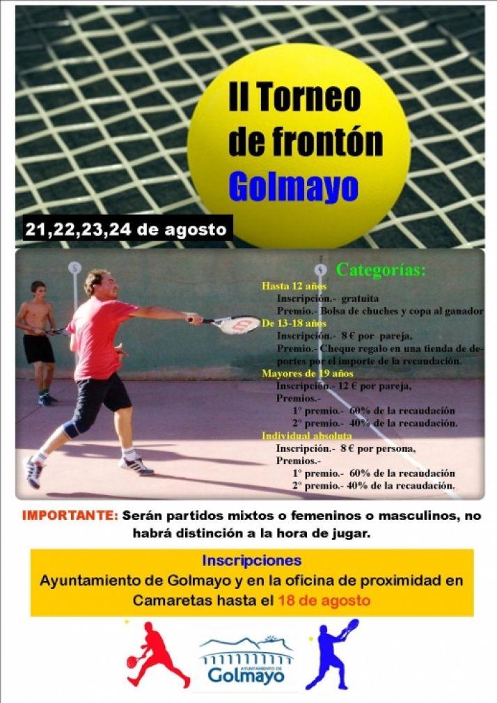 Cartel II Torneo de Frontenis.