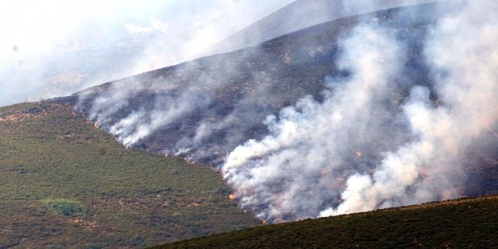 Foto 1 - El incendio de Losadilla (León) lleva cobradas más de 5.000 has.