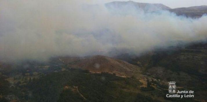 Imagen aérea del fuego. /Jta.