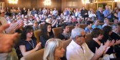 Imagen del salón de plenos este miércoles./SN