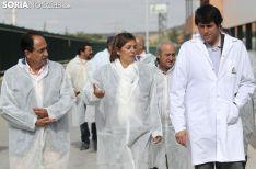 Imagen de la visita de Milagros Marcos a Nufri, este lunes./SN