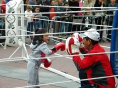 Mariano Granados acoge una exhibición de boxeo y kick boxing