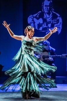 La bailaora en una actuación.