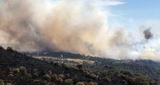 Imagen del nuevo incendio en Fermoselle./EP