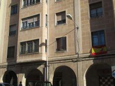 La bandera nacional en varios balcones sorianos. SN