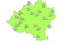Mapa para las 15:00h./eltiempo.es