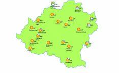 Mapa a las 16:00 horas./eltiempo.es