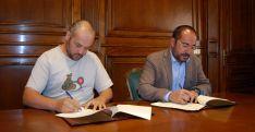 Iván Aparicio (izda.) y Luis Rey. /Dip.