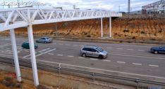 Imagen de la pasarela sobre la N-234 construida por el Ayuntamiento de Golmayo./SN