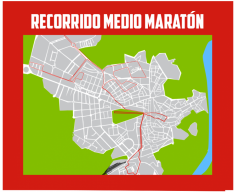 Recorrido para la Media Maratón.