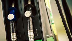 Un surtidor de combustible.