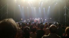 Diferentes instantes del concierto de Ara Malikian en Soria.