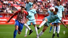 Uno de los lances del partido. /Real Sporting de Gijón