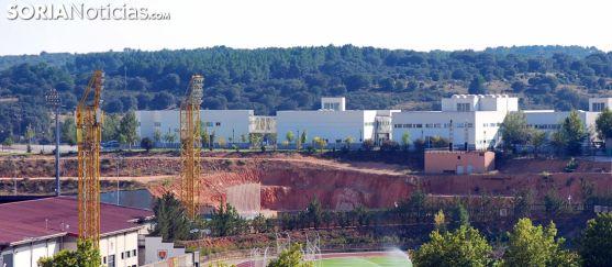 El Campus Duques de Soria y los terrenos que acogerán el nuevo edificio. /SN