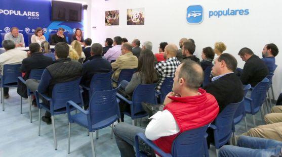 Reunión de coordinadores y secretarios del PP soriano.
