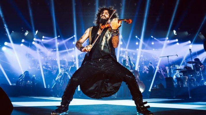 El violinista en una de sus actuaciones. /AM