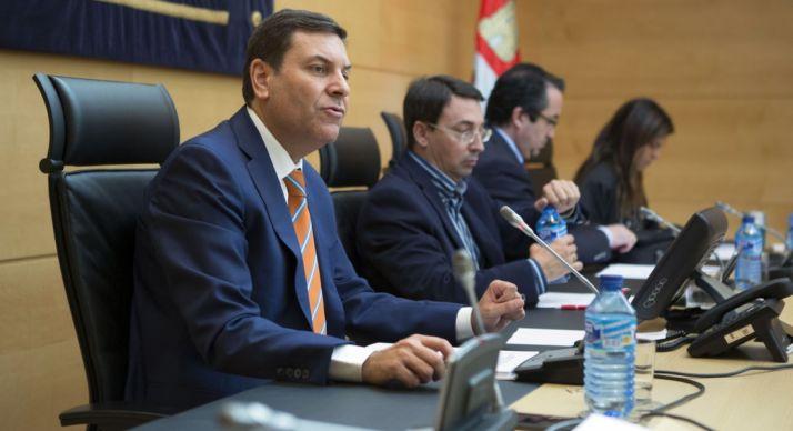 Fernández Carriedo, en su comparecencia este miércoles en Cortes. /ta.
