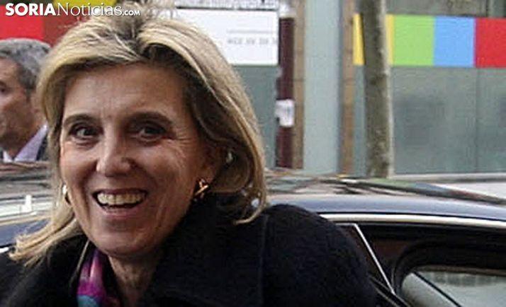 María José Salgueiro en una visita a Soria./SN