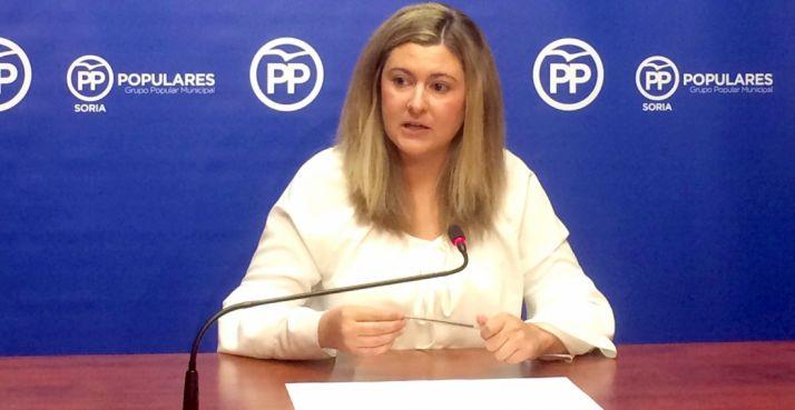 Eva García, concejal del PP capitalino.