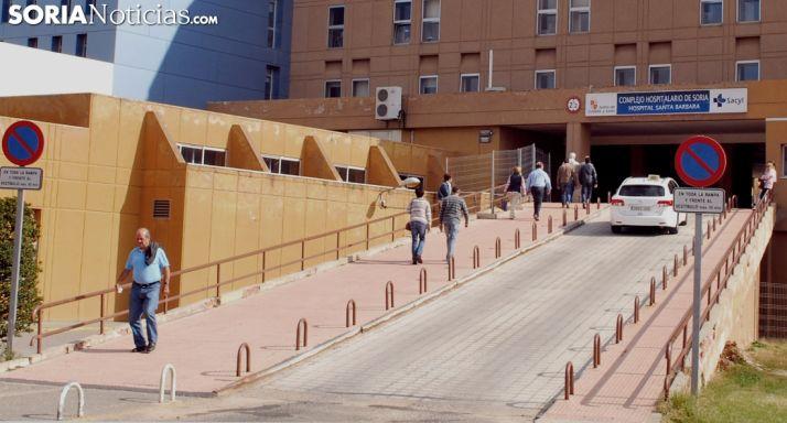 Imagen de la entrada al Santa Bárbara (Soria).