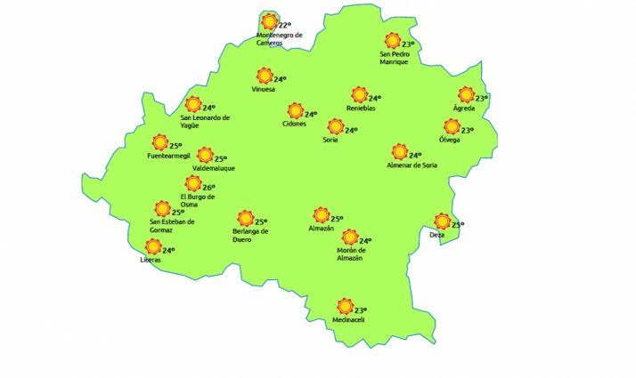 Mapa para este miércoles./eltiempo.es
