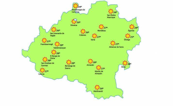 Mapa a las 15:00h./eltiempo.es