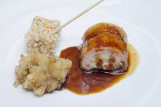 HOTEL ALFONSO VIII - Rollito de ibérico y boletus, concassé de manzana y crujiente de leche frita micológica
