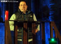 Alberto Sanz, en el homenaje a su padre./SN