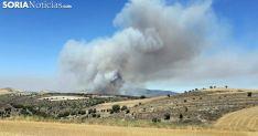 Columna de humo en el incendio de Cigudosa este verano./SN