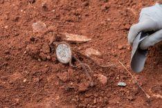 Restos de Abundio Andaluz en la fosa donde fue encontrado su cadáver./ASRD