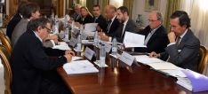 La Comisión Ejecutiva para la conmemoración de 'Numancia 2017' este lunes.
