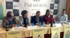 López (izda.), Andrés, Vieites, Muñiz y García este martes en la presentación.