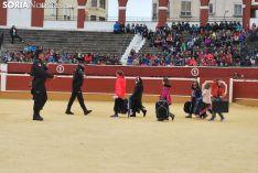 Imagen del ambiente en la plaza de toros este martes./SN