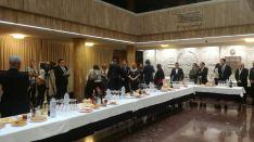 Vino español de San Saturio en el Ayuntamiento de Soria.