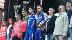 Podium de los ganadores de la prueba de puntuación.