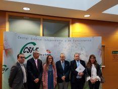 Responsables de CSIF, de la UBU y de la administración en la Jornada