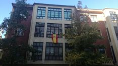 Banderas de España en las fachadas sorainas. SN