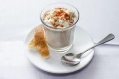 BAR RTE. IRUÑA PLAZA - Cappuccino de hongos con chantilly de queso y cacao ibérico