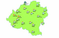 Mapa para a las 15:00./eltiempo.es
