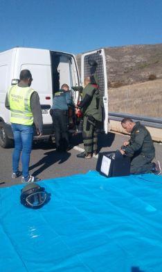 Foto 3 - Cortada la A-15 a la altura de Medinaceli por una falsa amenaza de bomba en un autobús