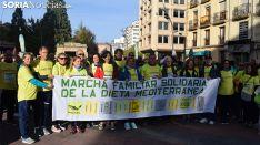 Cabecera de la I Marcha Solidaria de la Dieta. /SN