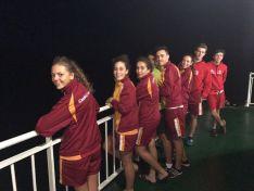 Atletas castellanoy leoneses que van a las pruebas de Melilla. /FCYL TRiatlón