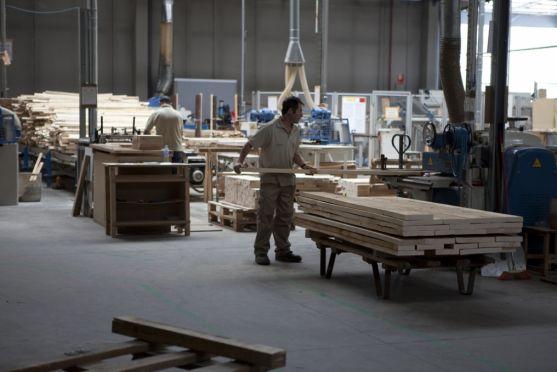 Trabajadores en San Leonardo.