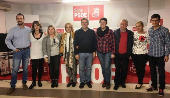 Nuevos responsables de la Agrupación Local de Soria del PSOE.