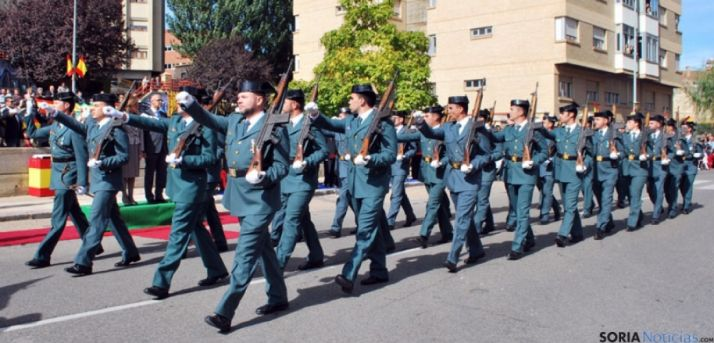 La Guardia Civil en las calles de Soria.