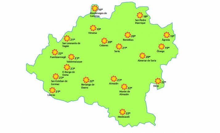 El mapa a las 15:00h./eltiempo.es