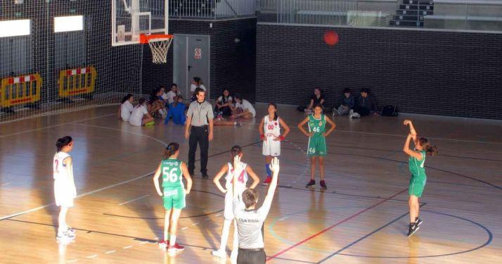 El Infantil Femenino en su partido este fin de semana./FDR