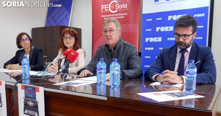 Munilla, (dcha.), Gil, Calvo y Gutiérrez este viernes. /SN